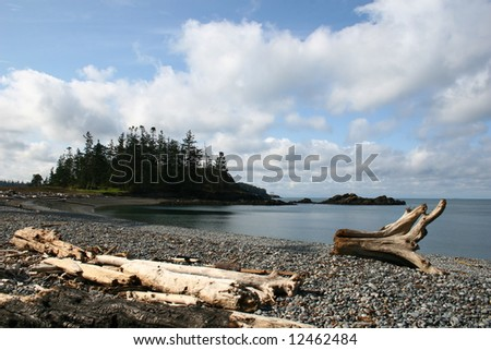 rosario beach - stock photo