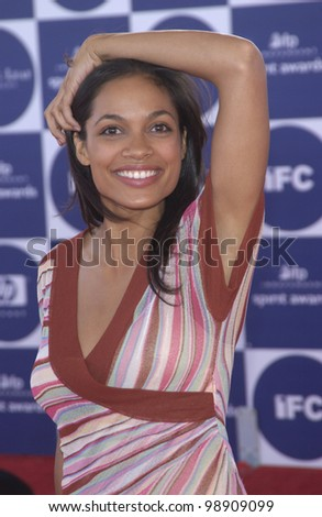 ROSARIO DAWSON at the 2004 IFP Independent Spirit Awards on the beach at Santa Monica, CA. February 28, 2004