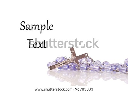 Rosary with Space for Custom Text - stock photo