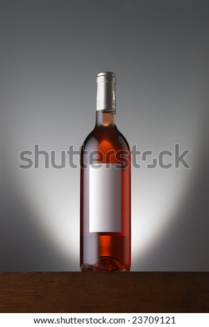 rosato wine bottle with label - stock photo