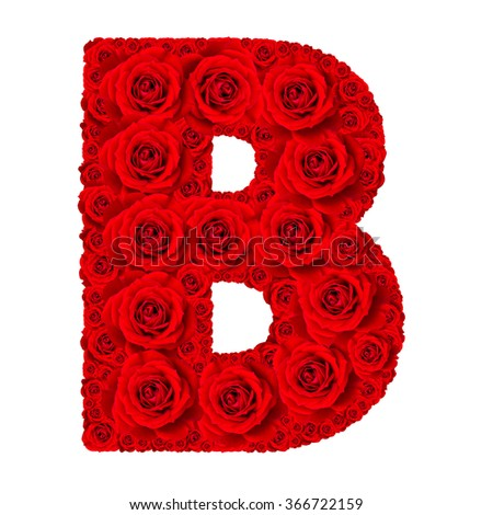 Z Alphabet In Rose Rose alphabet set - Alphabet capital letter B made from red rose ...