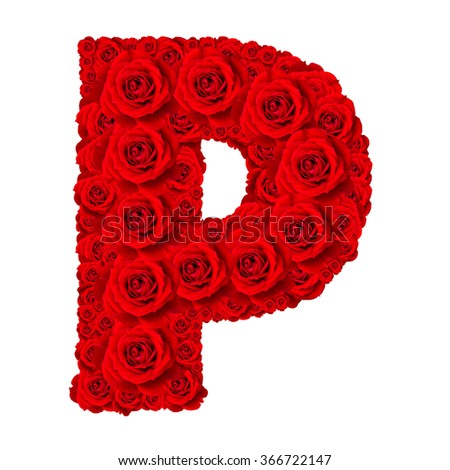 Rose Alphabet Set Capital Letter Stock Photo Royalty Free