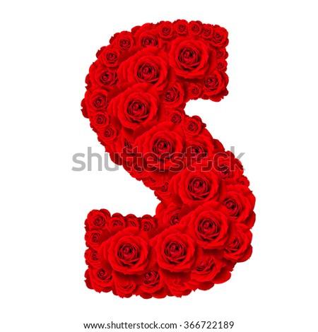 S Alphabet In Rose Rose Alphabet S...