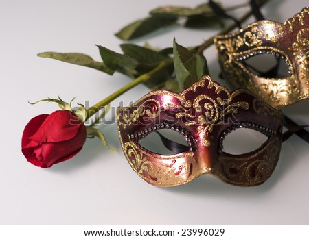 Rose and carnival face mask