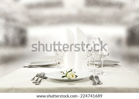 rose and plate  - stock photo