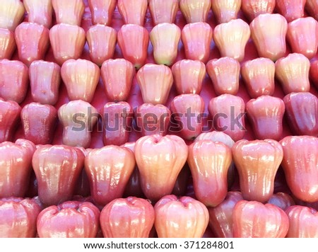 Rose apple in the market