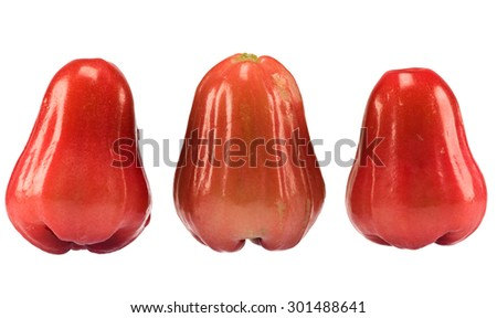 Rose apple isolated with white background.