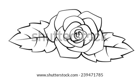 Rose Black and White - stock photo