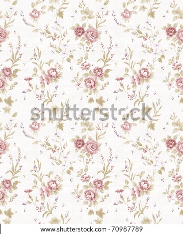 Rose bouquet design Seamless pattern with White  background - stock photo
