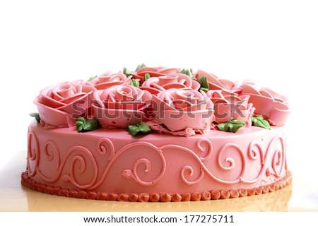 Rose cake - stock photo