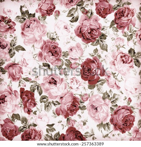 Rose Fabric background,vintage colour effect - stock photo