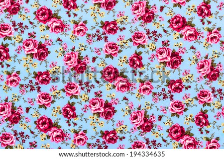 Rose Fabric , Rose Fabric background, Fragment of colorful retro tapestry, Rose Fabric Blue Background  - stock photo