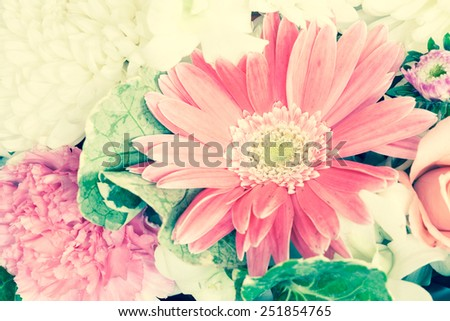 rose flower decoration, vintage effect - stock photo