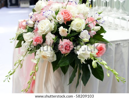 rose flower on the wedding. - stock photo