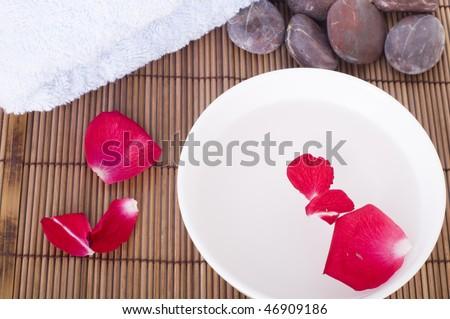 rose flower spa concept backgroiund - stock photo