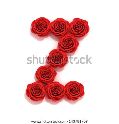 Z Alphabet In Rose Love Alphabet Stock Photos, Images, & Pictures | Shutterstock