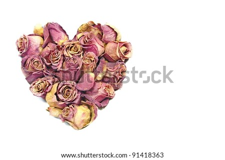 rose heart - stock photo