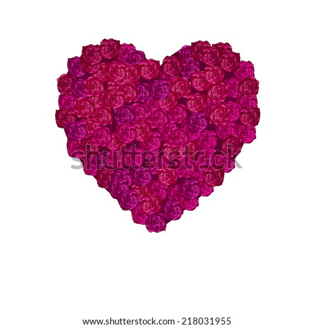 rose heart illustration, can be used as greeting cards for Valentine's day - stock photo