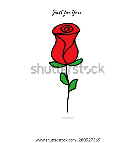Rose - Just for You - stock photo