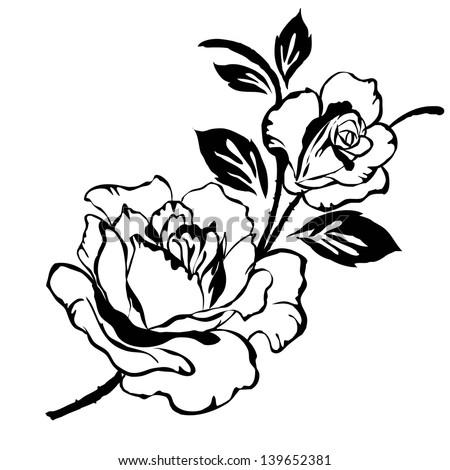 Rose pattern - stock photo