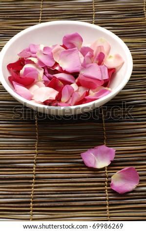 Rose petal spa - stock photo