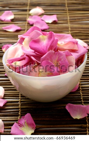 Rose petals spa - stock photo