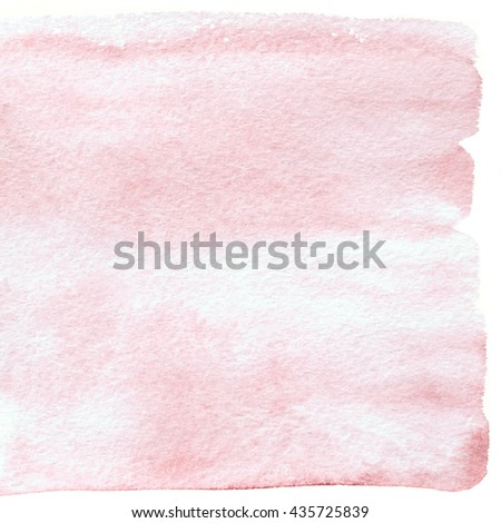 Rose quartz square watercolor banner. Trend pink watercolor background isolated on white - stock photo