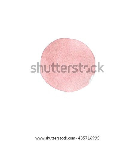 Rose quartz watercolor background. Fashion rose watercolor spot isolated on white - stock photo