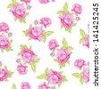 Rose seamless background.  illustration. - stock vector