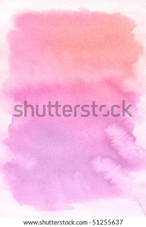 Rose spot, watercolor abstract hand painted background - stock photo