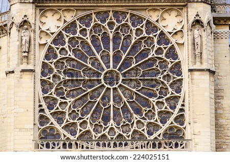 Rose Window Drawing Rose Window in Notre Dame