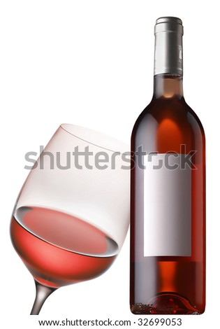 rose wine - stock photo