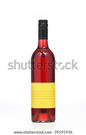rose wine on a white background - stock photo