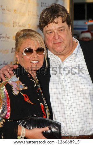 "Roseanne Barr and John Goodman at The Trevor Project's ""Cracked Xmas 9"" Benefit. The Wiltern LG, Los Angeles, California. December 3, 2006."