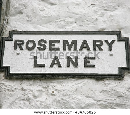 Rosemary Lane, Beaumaris, Isle of Anglesey, North Wales