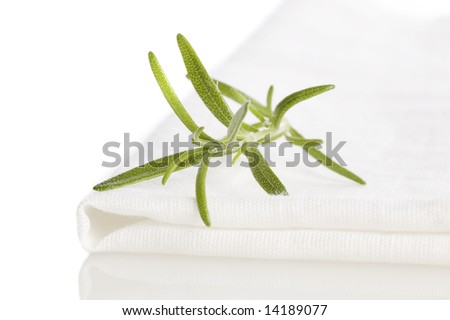 rosemary on place-mat isolated