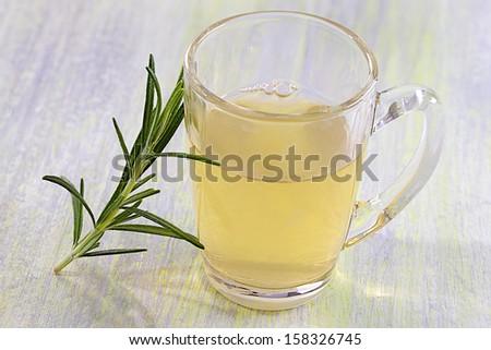 Rosemary Plant medicinal - herbal tea - stock photo