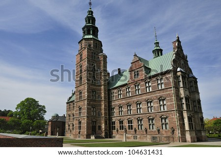 Rosenborg Castle - renaissance castle in center of Copenhagen. Denmark - stock photo