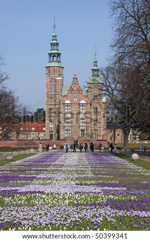 Rosenborg Castle which is a renaissance castle in the center of Copenhagen. It was built in 1606 and is an example of Christian IV's architectural projects.