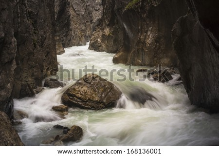 Rosenlaui Gorge, UNESCO World Heritage Site, Bernese Alps, Switzerland, Europe - stock photo