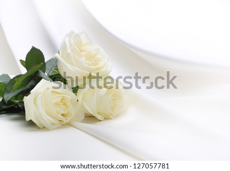 roses bouquet on silk