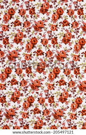 Roses fabric , Roses fabric background, Fragment of colorful retro tapestry.