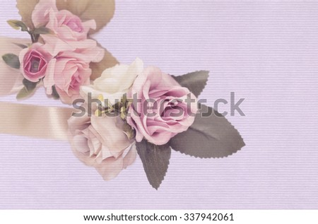 Roses flowers with background vintage - stock photo