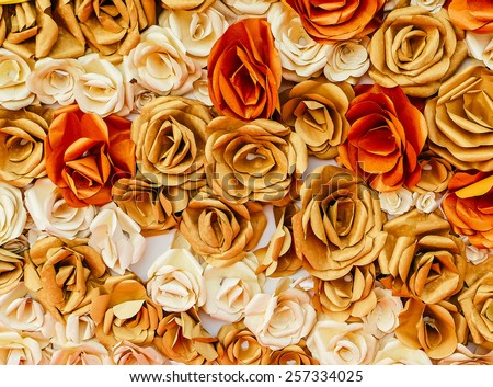Roses from paper , background - stock photo
