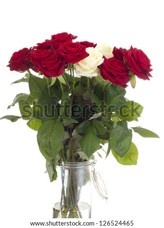 Roses in a vase - stock photo