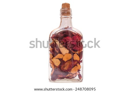 roses in the bottle - stock photo