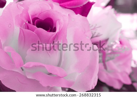 Roses made of cloth. - stock photo