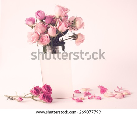 Roses, Peonies - stock photo