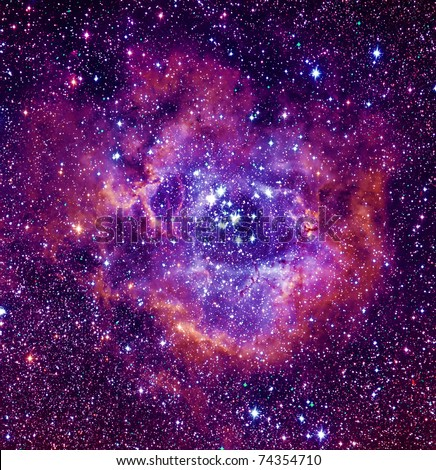 Rosetta nebula - stock photo