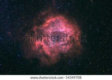 rosette nebula - stock photo